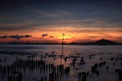 puesta del sol mágica Imagenes de archivo