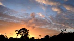 Puesta del sol Mirandino Imagenes de archivo