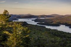 Puesta del sol - montaña calva - montañas de Adirondack - Nueva York fotografía de archivo