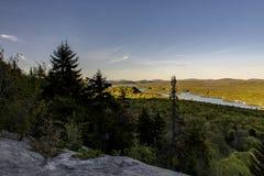 Puesta del sol - montaña calva - montañas de Adirondack - Nueva York Fotos de archivo