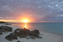 Puesta del sol mozambiqueña fotos de archivo