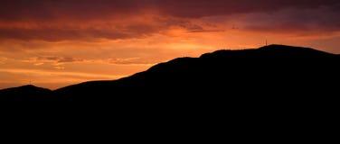 Puesta del sol Mt clásico Wellington Fotografía de archivo