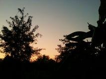 Puesta del sol natural Foto de archivo libre de regalías