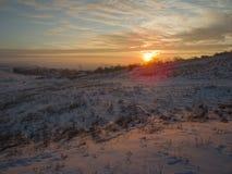 Puesta del sol Nevado Imagen de archivo