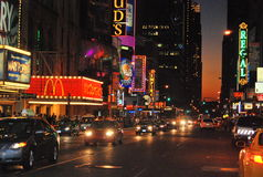 Puesta del sol New York City Imagen de archivo libre de regalías