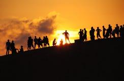Puesta del sol única Fotografía de archivo