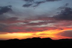 Puesta del sol nicaragüense Imagen de archivo