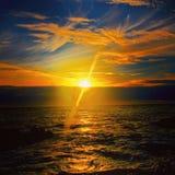 Puesta del sol ninguna 5 Fotografía de archivo libre de regalías