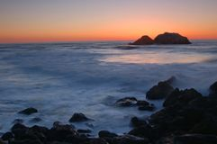Puesta del sol norteña de California imágenes de archivo libres de regalías
