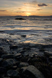 Puesta del sol noruega Imagen de archivo