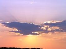Puesta del sol - nubes Fotos de archivo