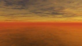 Puesta del sol nublada 4 Imagenes de archivo