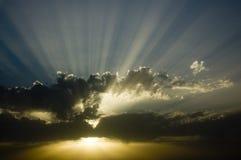 Puesta del sol nuclear #2 Foto de archivo libre de regalías