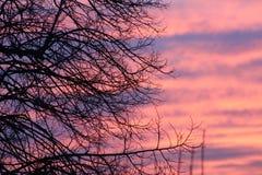 puesta del sol o salida del sol Imágenes de archivo libres de regalías