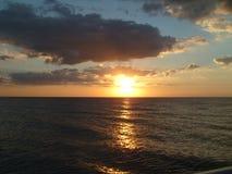 Puesta del sol 005 del océano Fotografía de archivo libre de regalías