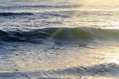 Puesta del sol Océano Imagen de archivo libre de regalías