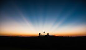 Puesta del sol occidental fotos de archivo libres de regalías