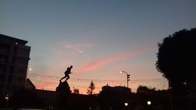 puesta del sol otra vez Fotos de archivo libres de regalías