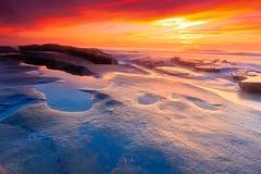 Puesta del sol pacífica imagen de archivo libre de regalías