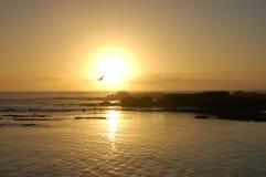 Puesta del sol por Essaouira Foto de archivo