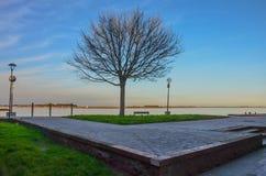 Puesta del sol, paisaje marino, serenidad Foto de archivo libre de regalías