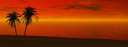 Puesta del sol panorámica Ilustración del Vector