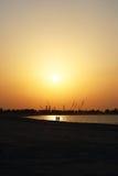 Puesta del sol para dos Imagenes de archivo