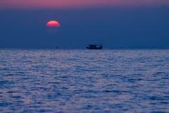 Puesta del sol para el fondo Foto de archivo