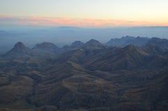 Puesta del sol, parque nacional de la curva grande, Tejas imagen de archivo