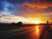 Puesta del sol perfecta fotos de archivo libres de regalías