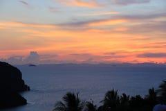 Puesta del sol, Phi Phi Foto de archivo libre de regalías