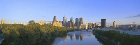 Puesta del sol, Philadelphia, Pennsylvania Fotos de archivo libres de regalías