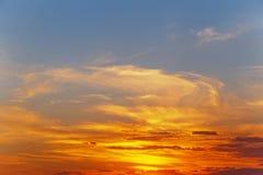 Puesta del sol pintoresca Imagen de archivo libre de regalías