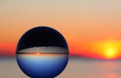 Puesta del sol planetaria Foto de archivo