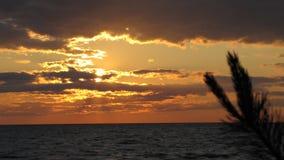 Puesta del sol por el mar Imágenes de archivo libres de regalías