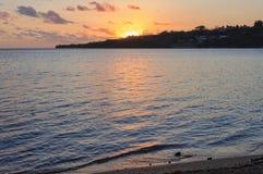Puesta del sol - Port Vila Fotografía de archivo libre de regalías