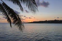 Puesta del sol - Port Vila Imagen de archivo libre de regalías