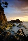 Puesta del sol preciosa Imagen de archivo libre de regalías
