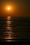 Puesta del sol profunda Foto de archivo libre de regalías
