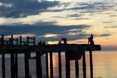 puesta del sol que espera Fotos de archivo libres de regalías