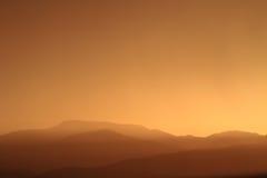 Puesta del sol relajante Fotografía de archivo