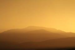 Puesta del sol relajante Imagen de archivo libre de regalías