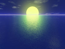 Puesta del sol reservada imágenes de archivo libres de regalías