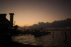 Puesta del sol Ria Lagartos fotografía de archivo libre de regalías