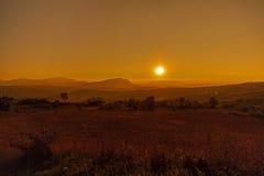 Puesta del sol roja Fotografía de archivo libre de regalías