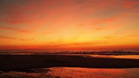 Puesta del sol roja Fotos de archivo
