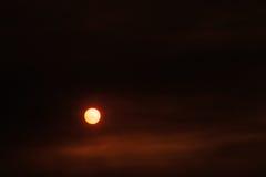 Puesta del sol roja Imágenes de archivo libres de regalías
