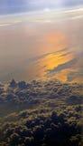 Puesta del sol roja del cielo Foto de archivo libre de regalías