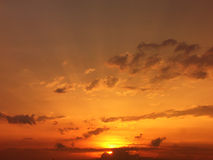 Puesta del sol romántica fotos de archivo