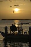 Puesta del sol romántica Fotografía de archivo libre de regalías